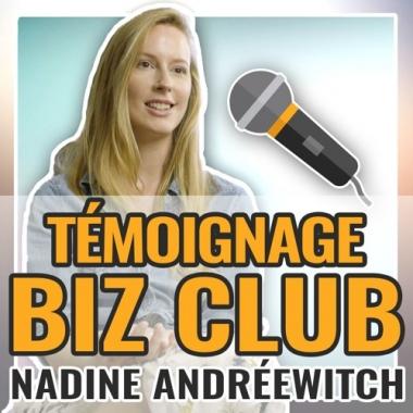 Témoignage Biz Club : Claire Andreewitch